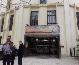 Pintu masuk mesjid Agung Brussel