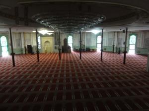 Ruang sholat mesjid Agung Brussel